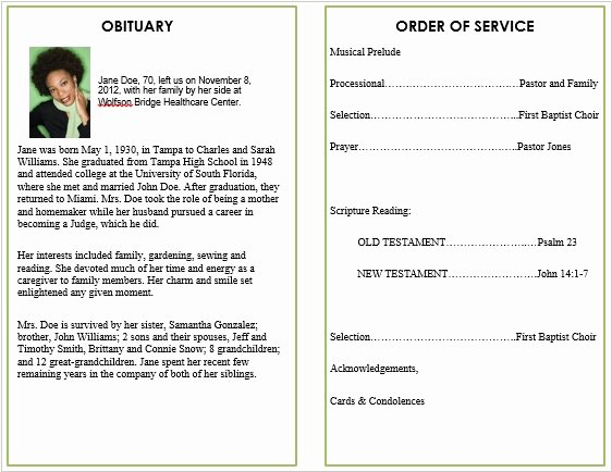 Free Obituary Templates for Word Luxury Floral 5 Funeral Pamphlets