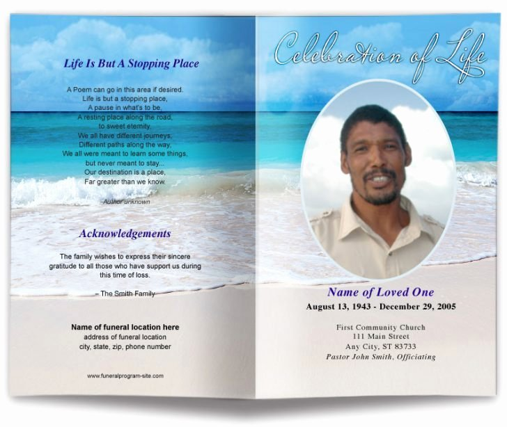 Free Obituary Templates for Word Luxury Free Obituary Program Template Picture – Free Funeral