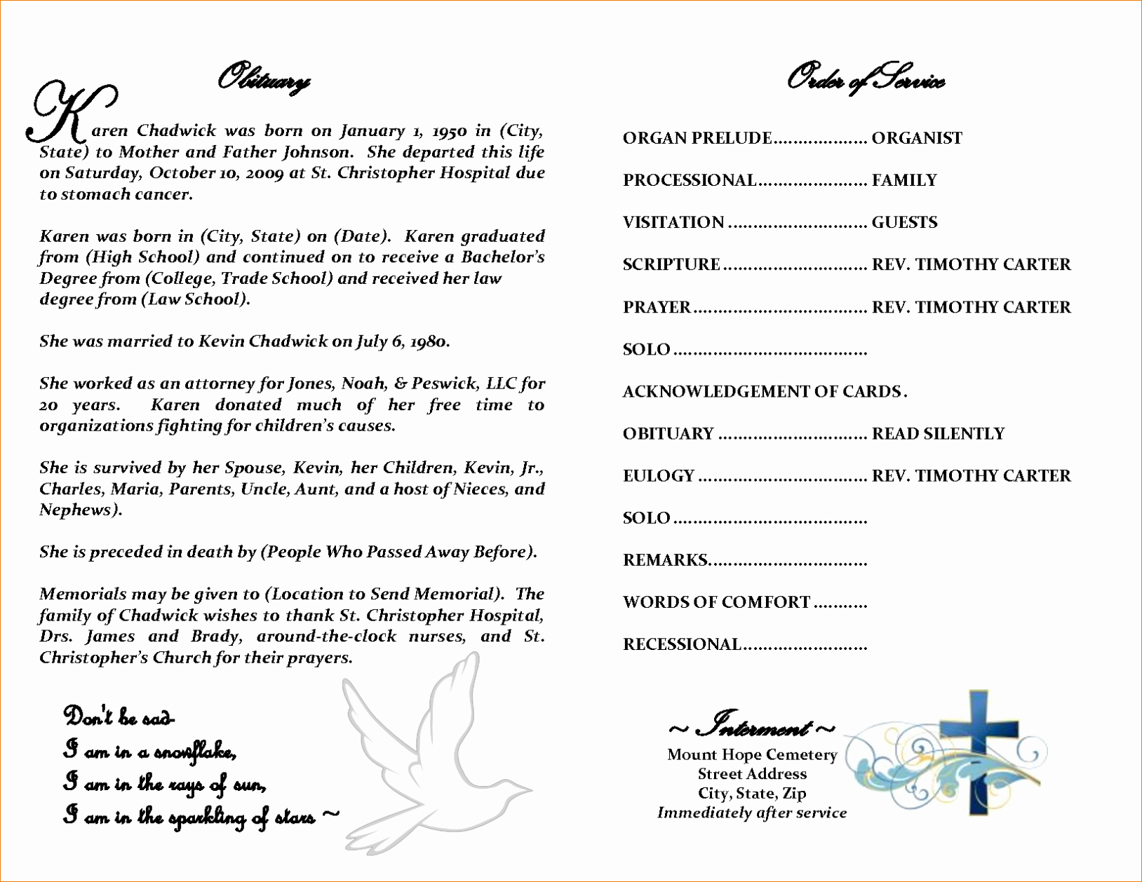 Free Obituary Templates for Word Unique Free Editable Obituary Templates Word Pdf Daily Roabox