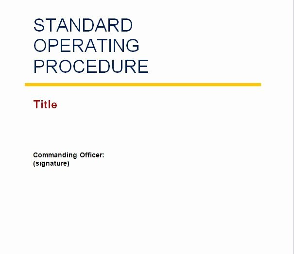 Free Office Procedures Manual Template Best Of We Prepared 37 Standard Operating Procedure sop