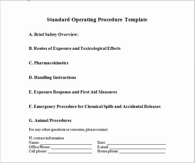 Free Office Procedures Manual Template Lovely 37 Best Standard Operating Procedure sop Templates