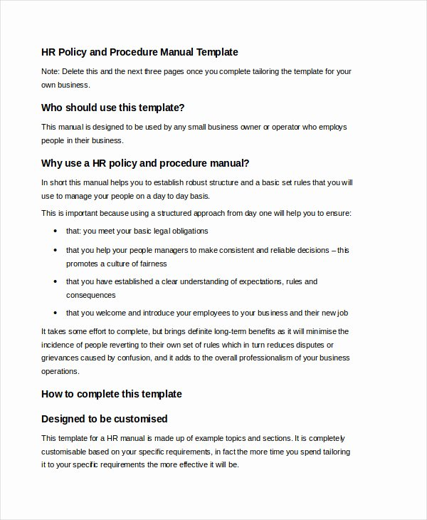 Free Office Procedures Manual Template Unique 10 Free User Manual Template Samples In Word Pdf format
