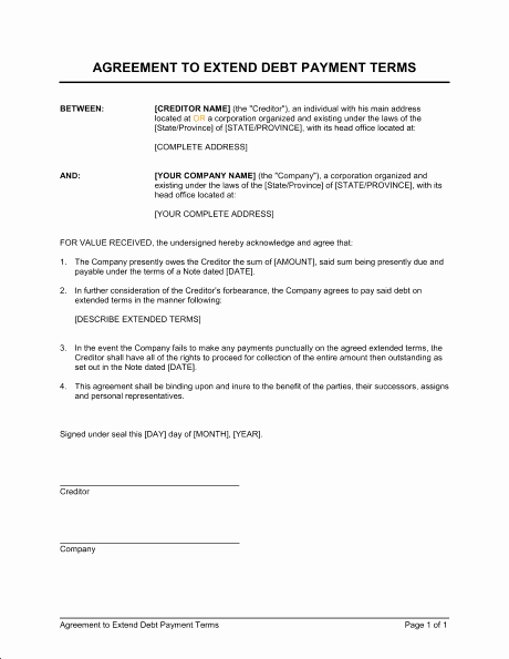 Free Payment Agreement Template Elegant 5 Payment Agreement Templates Word Excel Pdf formats