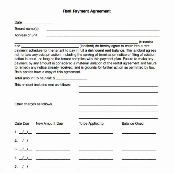Free Payment Agreement Template Fresh 16 Payment Plan Agreement Templates Word Excel Samples