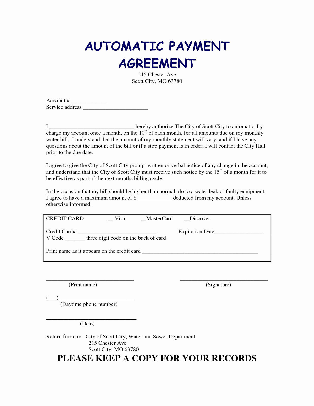 Free Payment Agreement Template Lovely 5 Payment Agreement Templates Word Excel Pdf formats