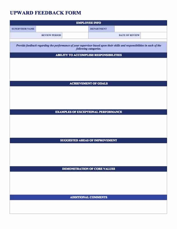 Free Performance Review Template Fresh Free Employee Performance Review Templates Smartsheet