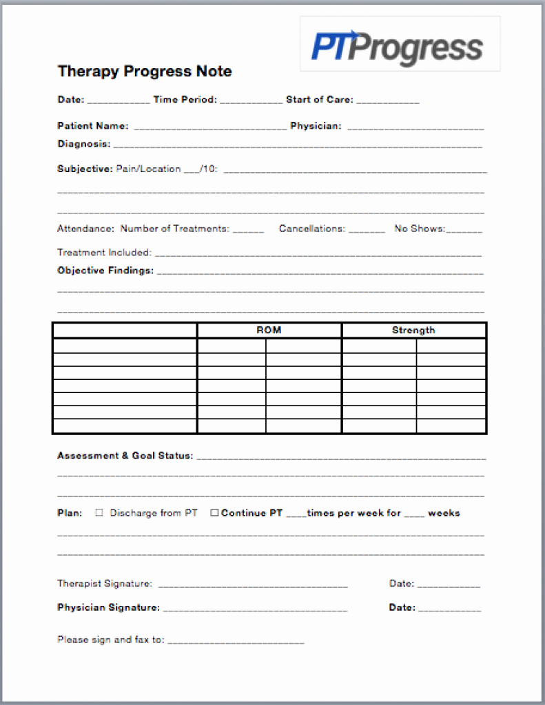 Free Physical therapy Documentation Templates Elegant How to Write A Progress Note