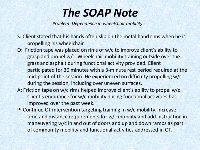 Free Physical therapy Documentation Templates Inspirational Image Result for Sample Occupational therapy soap Note