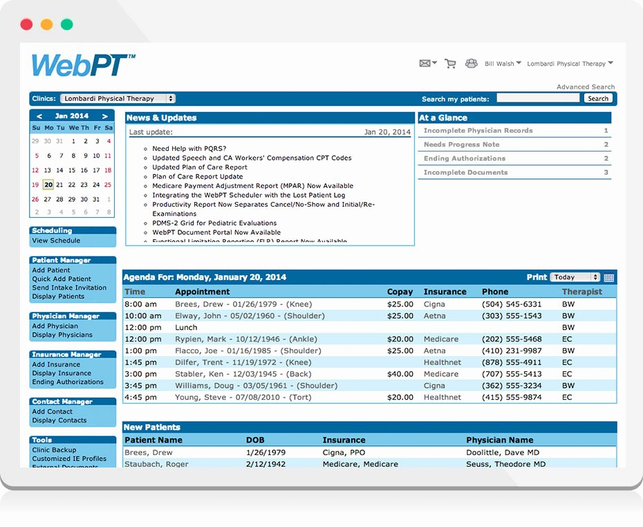 Free Physical therapy Documentation Templates Lovely Physical therapy Emr Features