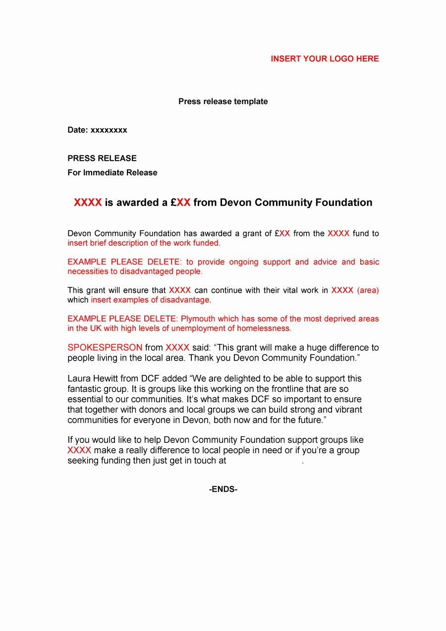 Free Press Release Template Best Of 47 Free Press Release format Templates Examples & Samples