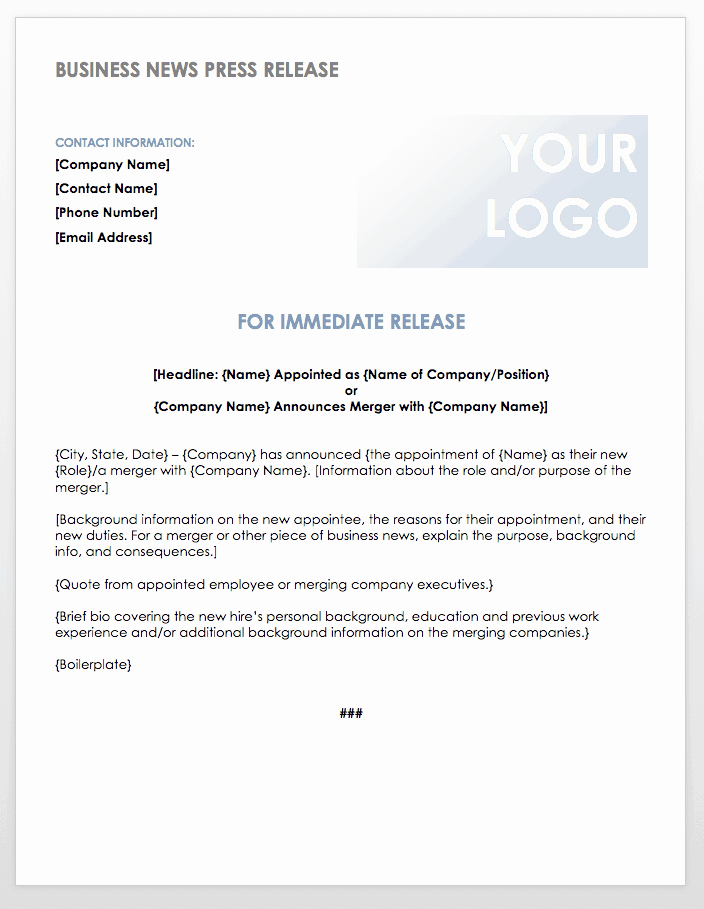 Free Press Release Template Best Of Free Press Release Templates