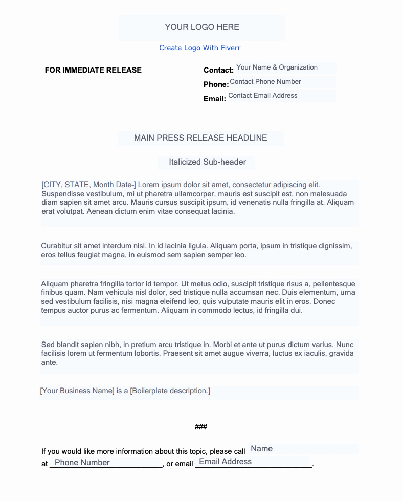 Free Press Release Template Best Of How to Write A Press Release In 10 Steps [ Free Template]