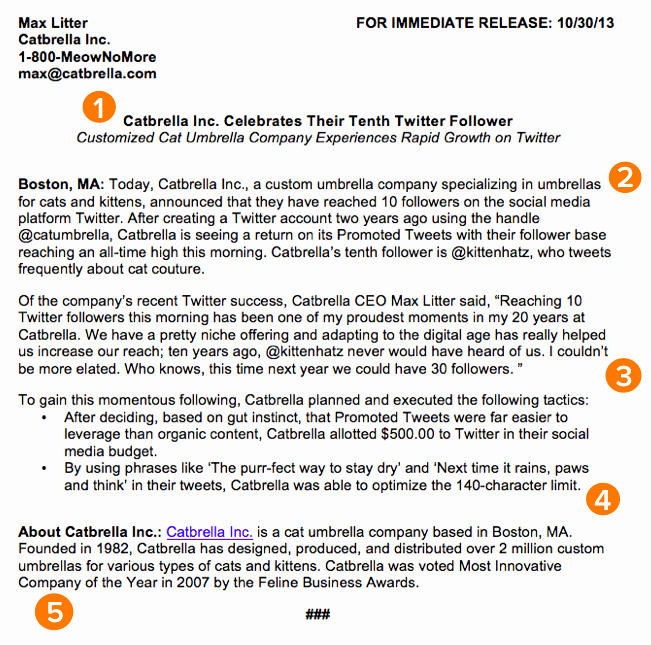 Free Press Release Template Luxury How to Write A Press Release [free Template Sample]