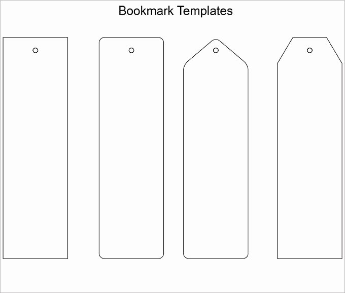 Free Printable Bookmark Templates Awesome Blank Bookmark Template Bookmark Template …