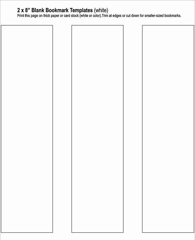 Free Printable Bookmark Templates Inspirational Blank Bookmark Template 135 Free Psd Ai Eps Word