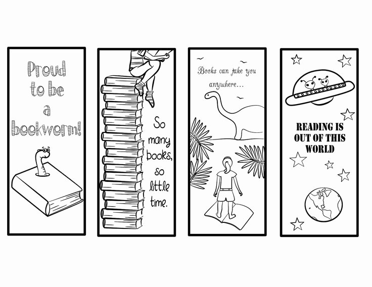 Free Printable Bookmark Templates New Printable Bookmarks to Color