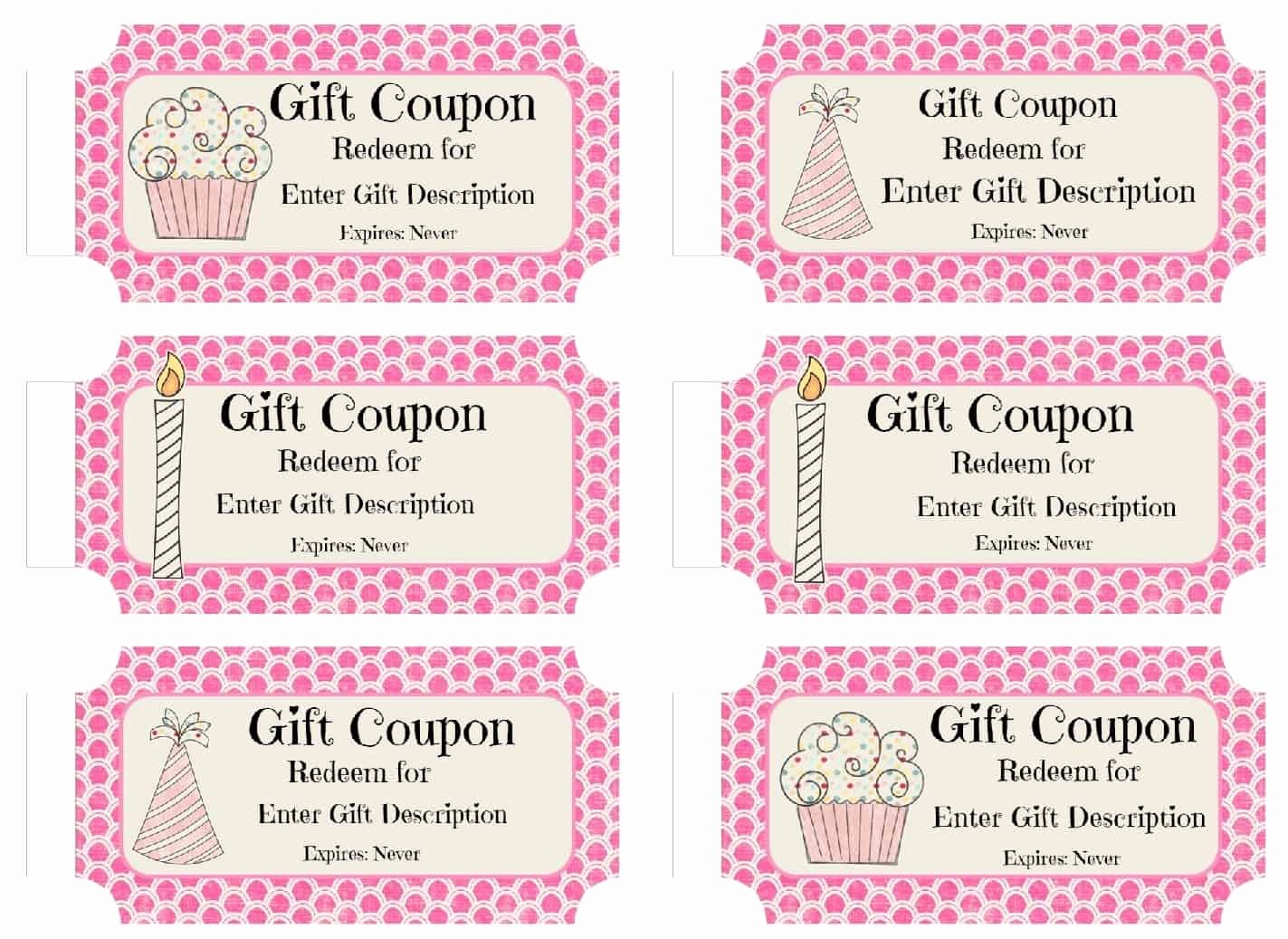 Free Printable Coupon Templates Awesome Free Custom Birthday Coupons Customize Line & Print at