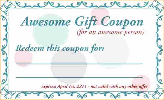 Free Printable Coupon Templates Beautiful Birthday Coupon Template