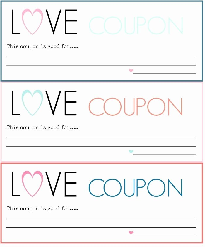 Free Printable Coupon Templates Beautiful Blank Love Coupons Template