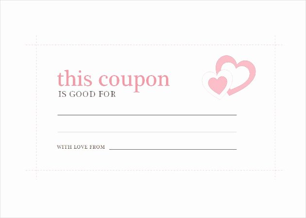 Free Printable Coupon Templates Fresh 28 Homemade Coupon Templates – Free Sample Example