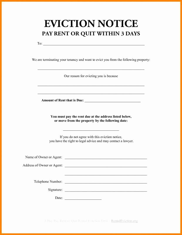 Free Printable Eviction Notice Template Inspirational 3 Day Eviction Notice Florida Beneficialholdings Info
