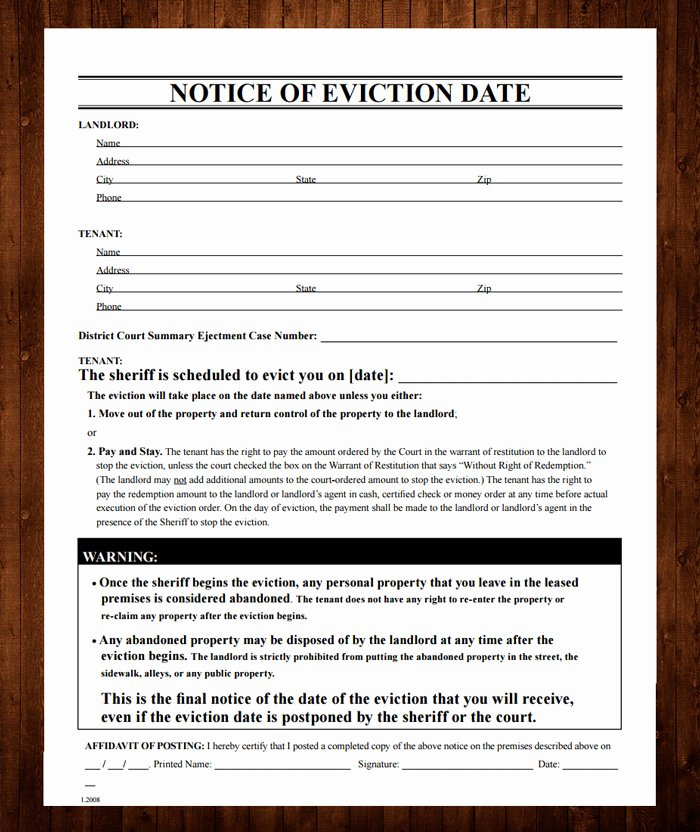 Free Printable Eviction Notice Template Unique 12 Free Eviction Notice Templates for Download Designyep