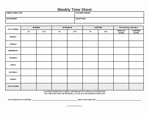 Free Printable Monthly Timesheet Template Best Of Free Printable Weekly Time Sheet