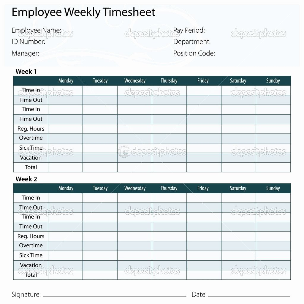 Free Printable Monthly Timesheet Template Elegant Free Printable Timesheet Template – 60 Sample
