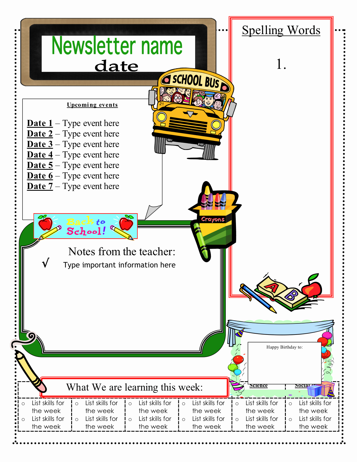 Free Printable Newsletter Templates Awesome Free Classroom Newsletter Templates Check Out these Eight