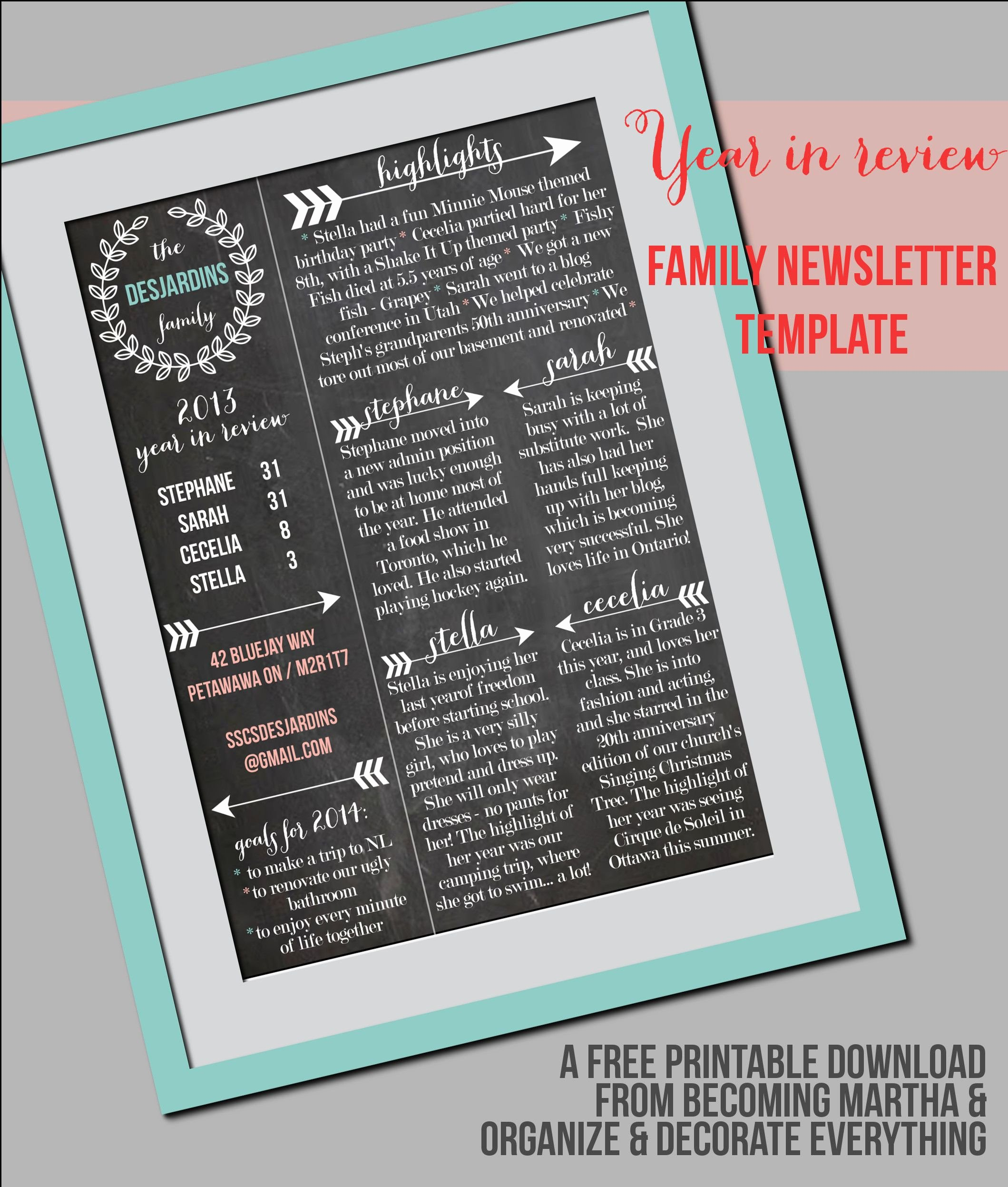 Free Printable Newsletter Templates Best Of Family Newsletter Template Christmas