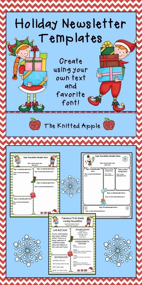 Free Printable Newsletter Templates Elegant Free Editable Newsletter Templates In A Holiday theme