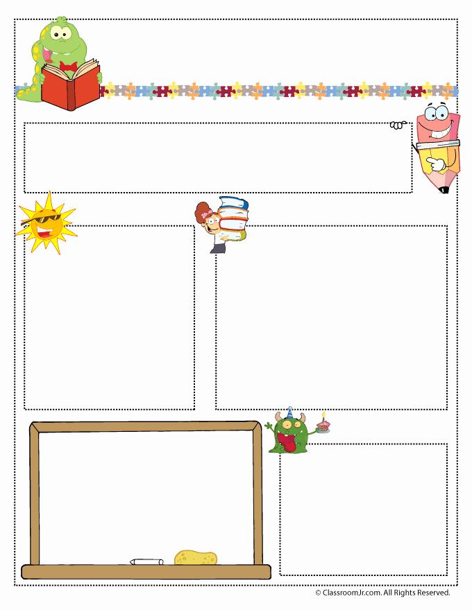 Free Printable Newsletter Templates Lovely Teacher Newsletter Templates Teacher Newsletter Templates