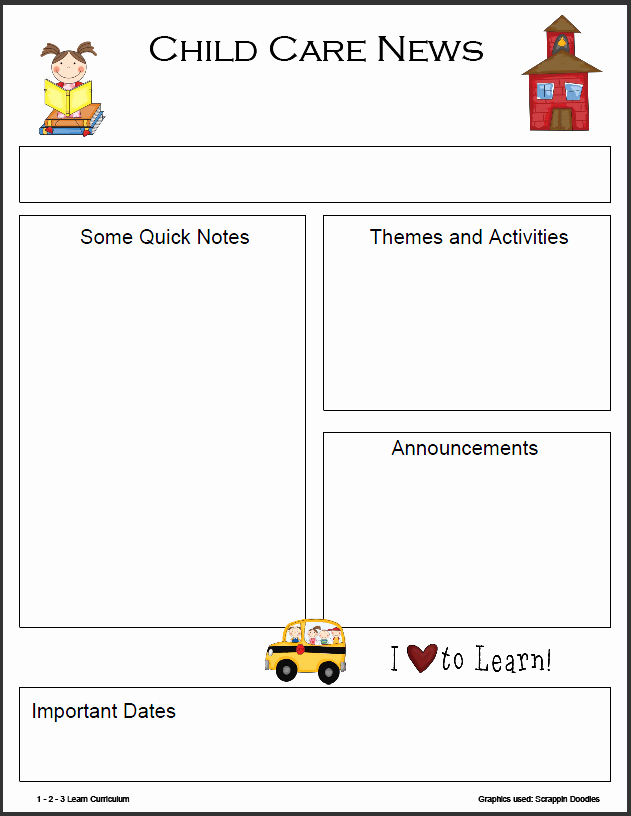 Free Printable Newsletter Templates Luxury Preschool Monthly Newsletter Template