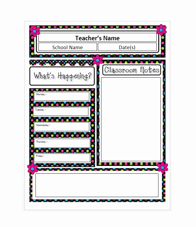 Free Printable Newsletter Templates New 50 Free Newsletter Templates for Work School and Classroom