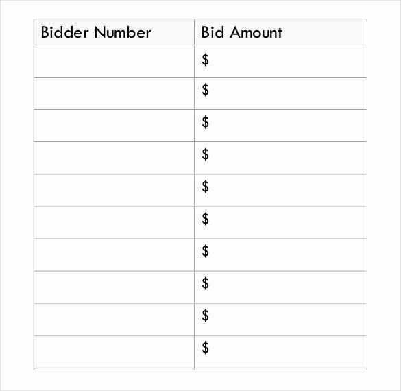 Free Printable Silent Auction Templates Unique Pdf Free Download Silent Auction Bid Sheet Template
