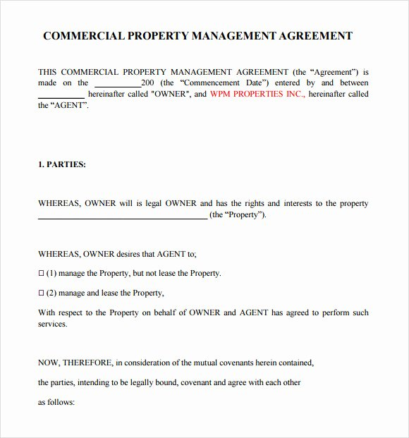 Free Property Management forms Templates Luxury Free 10 Sample Property Management Agreement Templates In