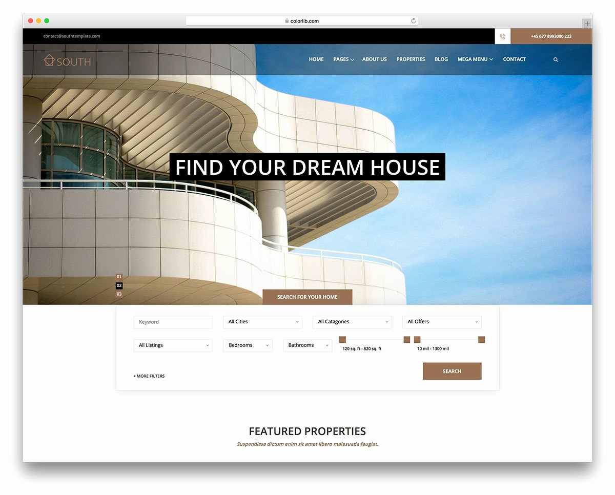 Free Property Management forms Templates New 17 Best Free Real Estate Website Templates 2019 Colorlib