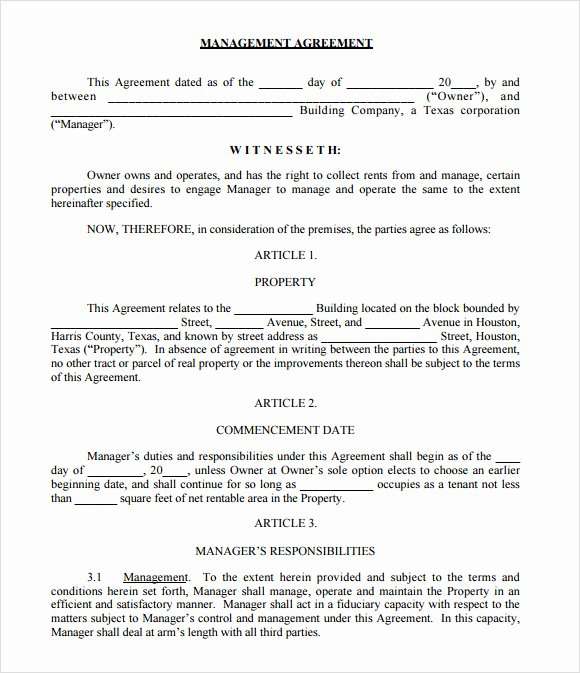 Free Property Management forms Templates Unique 9 Sample Property Management Agreement Templates to
