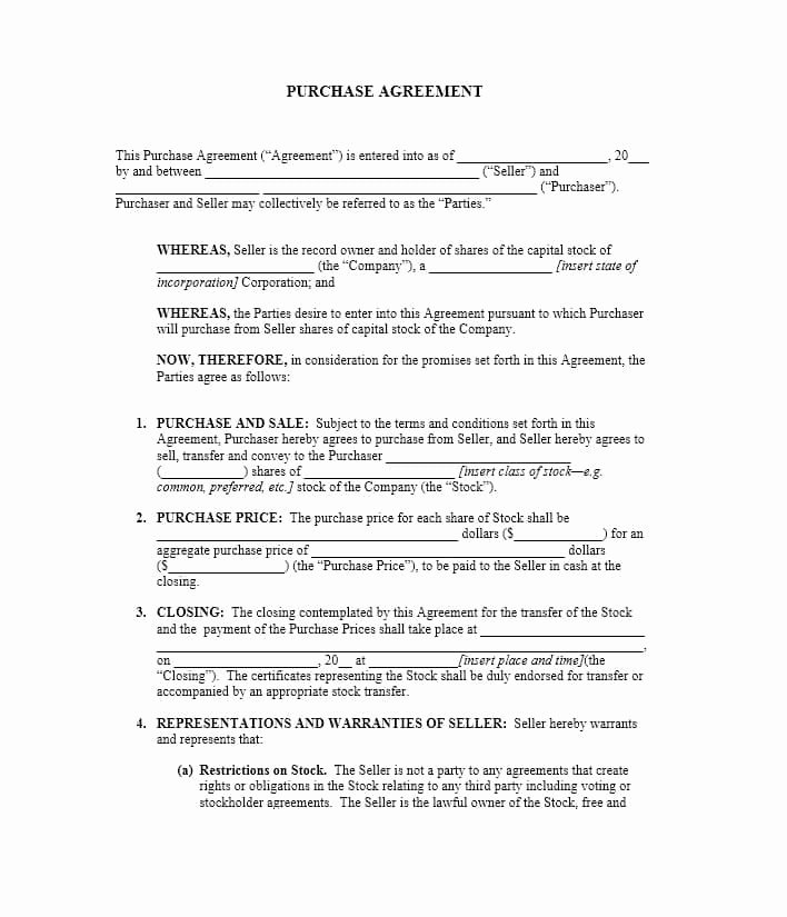Free Purchase Agreement Template Awesome 37 Simple Purchase Agreement Templates [real Estate Business]
