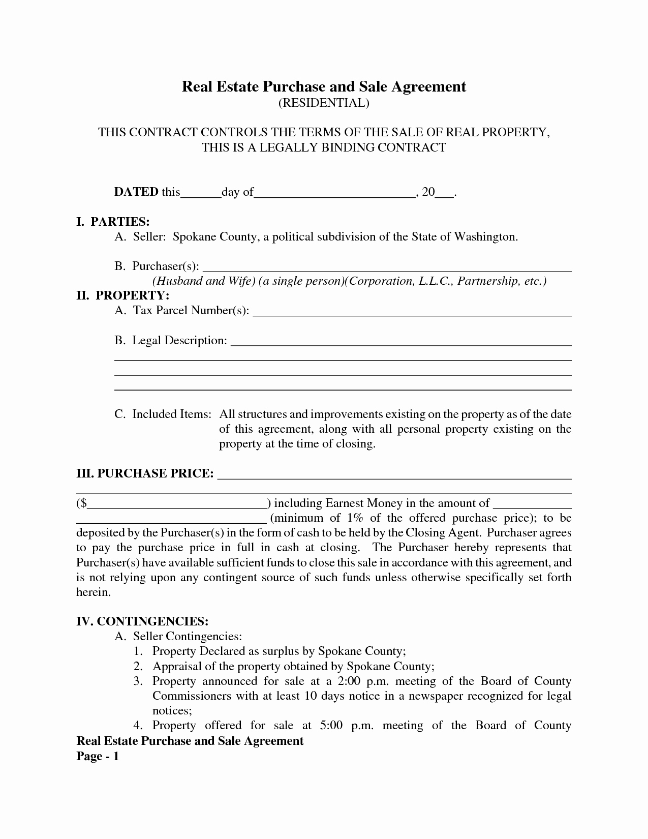 Free Purchase Agreement Template Luxury Blank Purchase Agreement