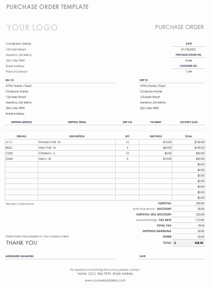 Free Purchase order Template Word Unique Free Purchase order Templates
