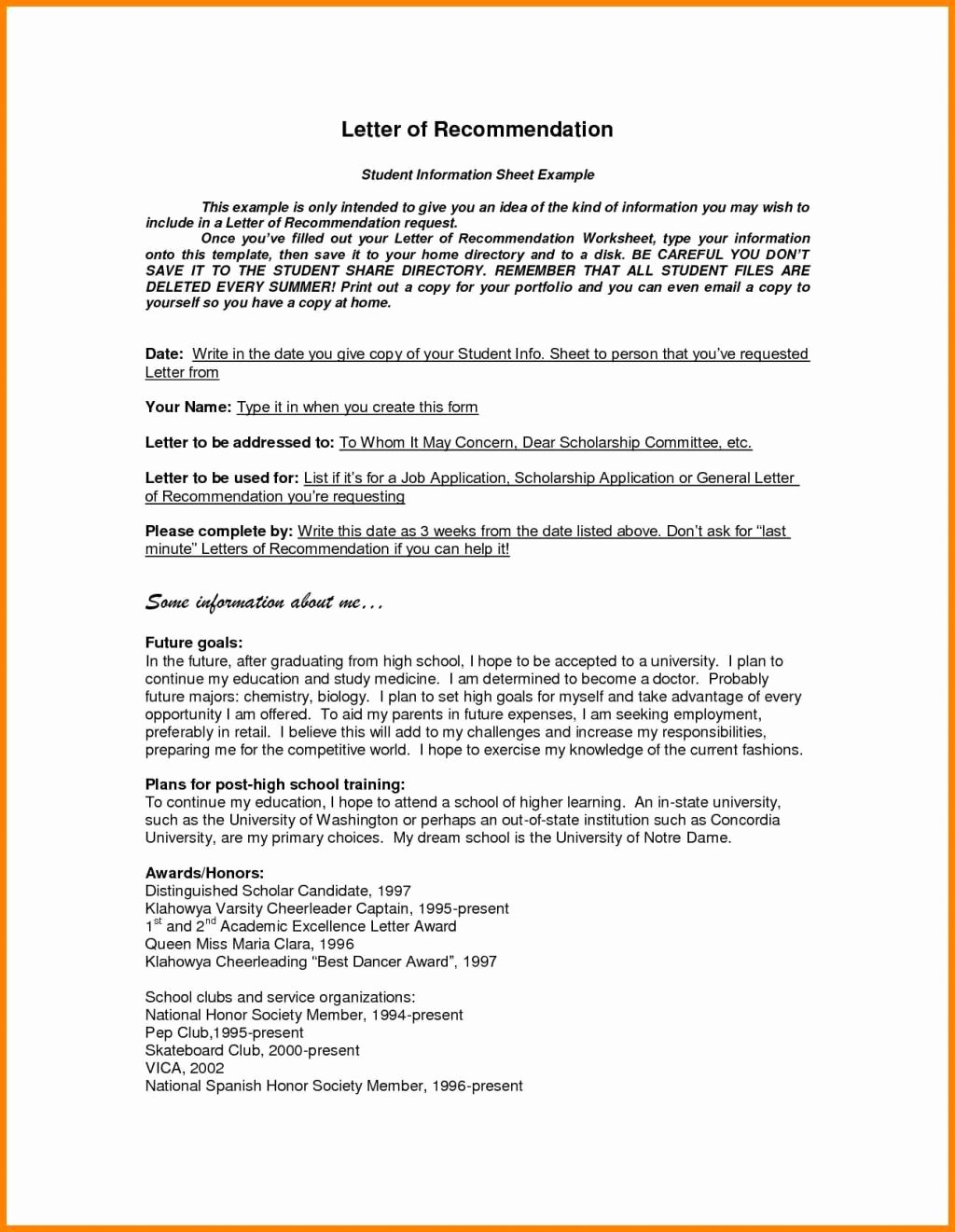 Free Reference Letter Template Awesome Free Printable Letter Re Mendation Template Examples