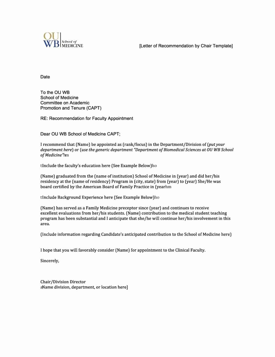 Free Reference Letter Template Awesome Letter Re Mendation Template
