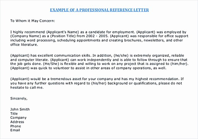 Free Reference Letter Template Luxury Reference Letter Template Details You Should Include when