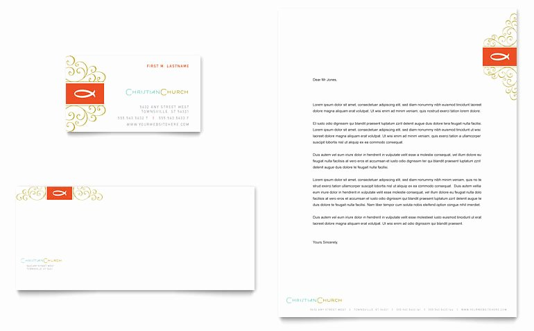 Free Religious Letterhead Templates Beautiful Christian Church Religious Business Card & Letterhead