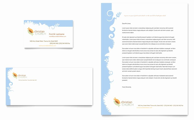 Free Religious Letterhead Templates Fresh Christian Church Business Card & Letterhead Template