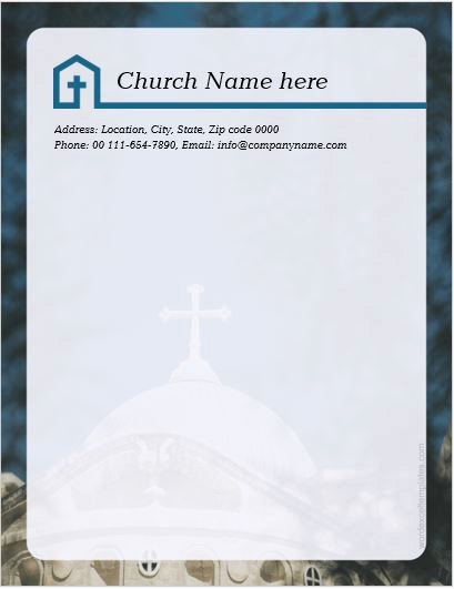 Free Religious Letterhead Templates Inspirational 5 Best Ms Word Church Letterhead Templates