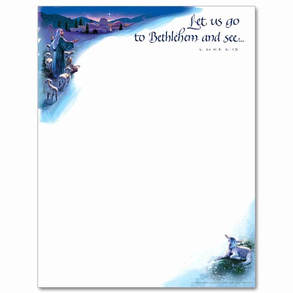 Free Religious Letterhead Templates Inspirational Let Us Go to Bethlehem Christmas Stationery