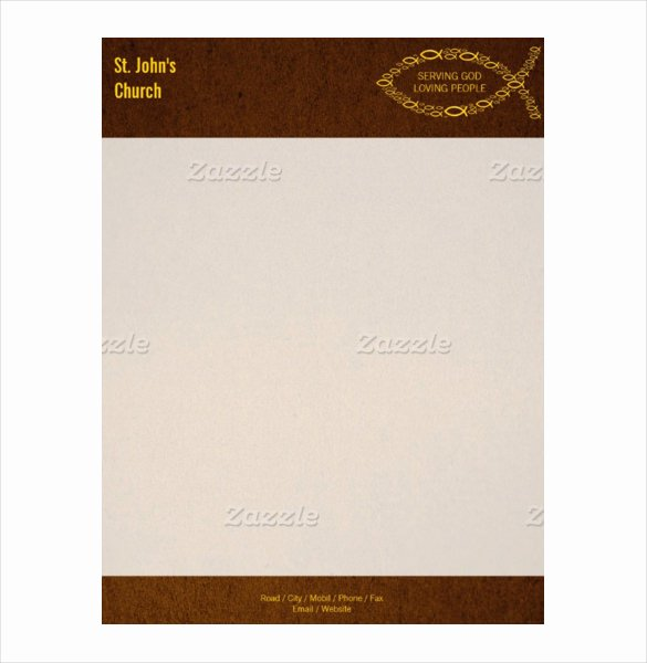 church letterhead