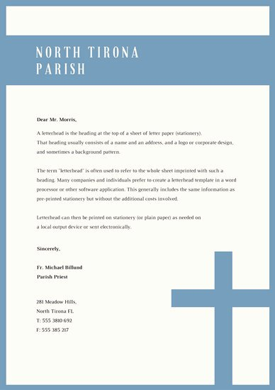 Free Religious Letterhead Templates Luxury Customize 38 Church Letterhead Templates Online Canva
